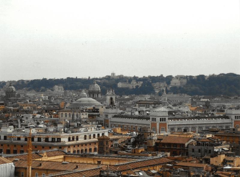 Vue sur le centre de Rome.