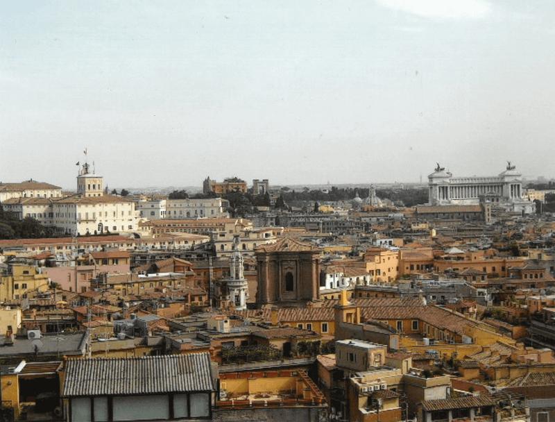 Vue panoramique sur Rome.