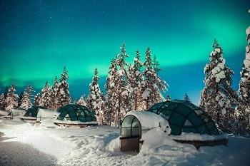 Hôtel chalet et igloos en Finlande.
