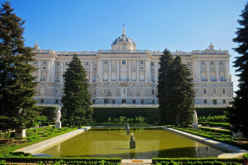 Jardin à Madrid.