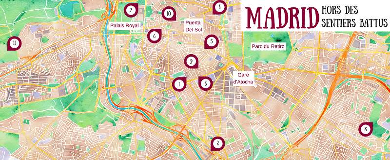 Plan touristique de Madrid.
