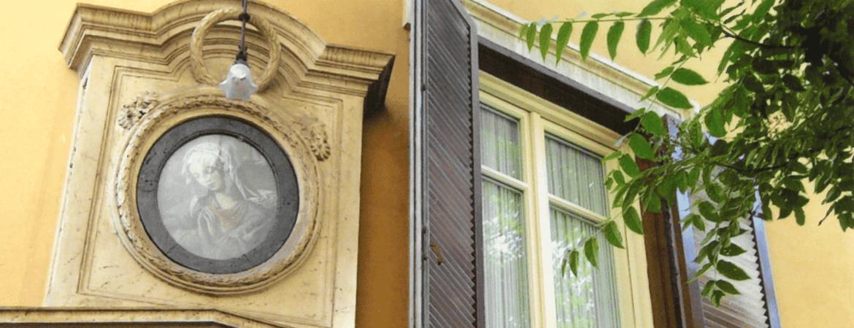 Vieille maison à Rome.