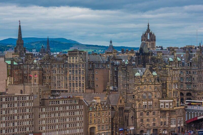 Vue de la vieille ville d'Edimbourg.