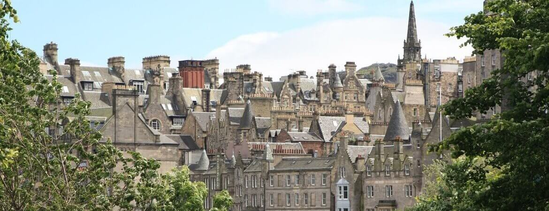 Panorama sur Édimbourg.
