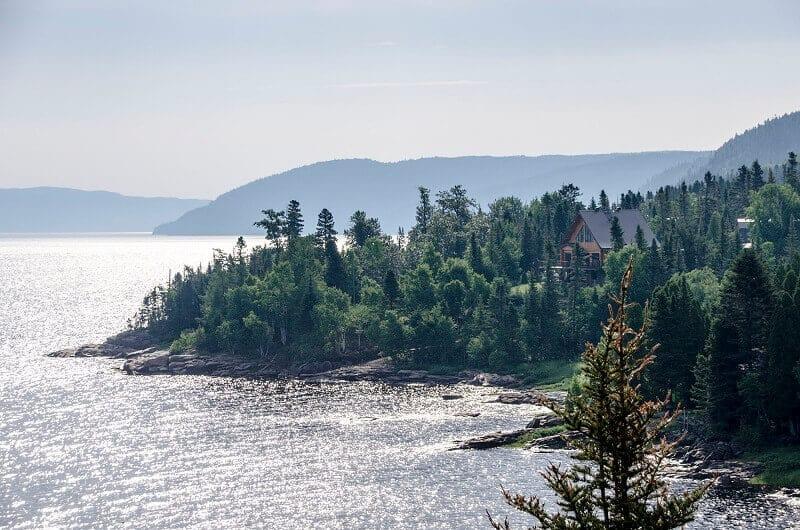 Vue du Fjord du Saguenay au Canada.