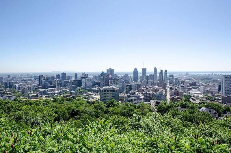Vue sur Montréal.