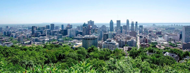Vue panoramique de Montréal.