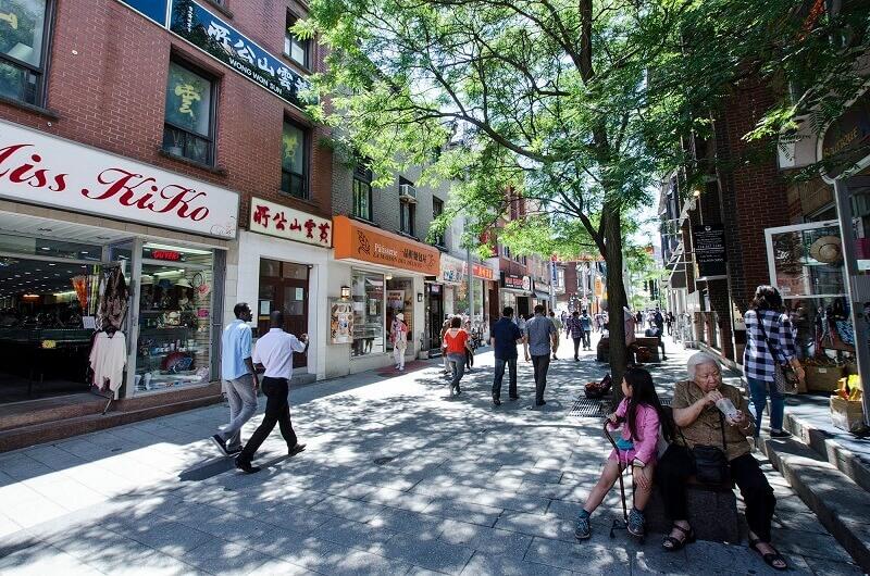 Une rue à Montréal.