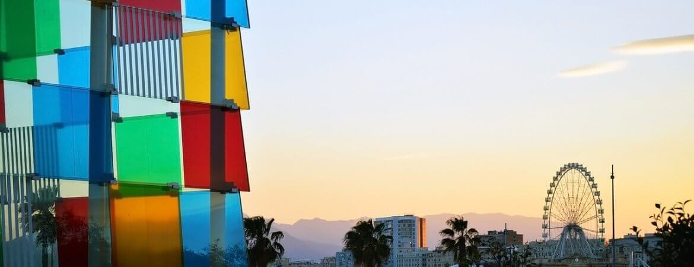 Coucher de soleil à Malaga.