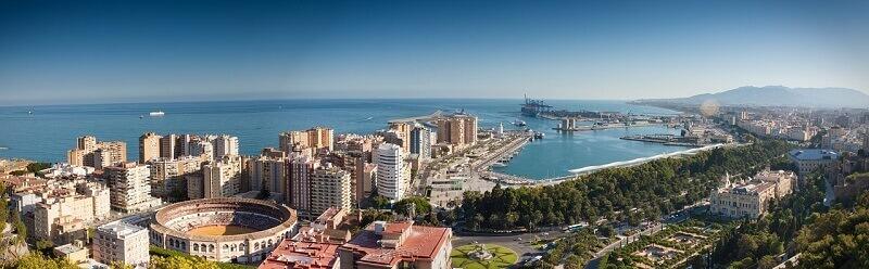 Panorama sur Málaga.