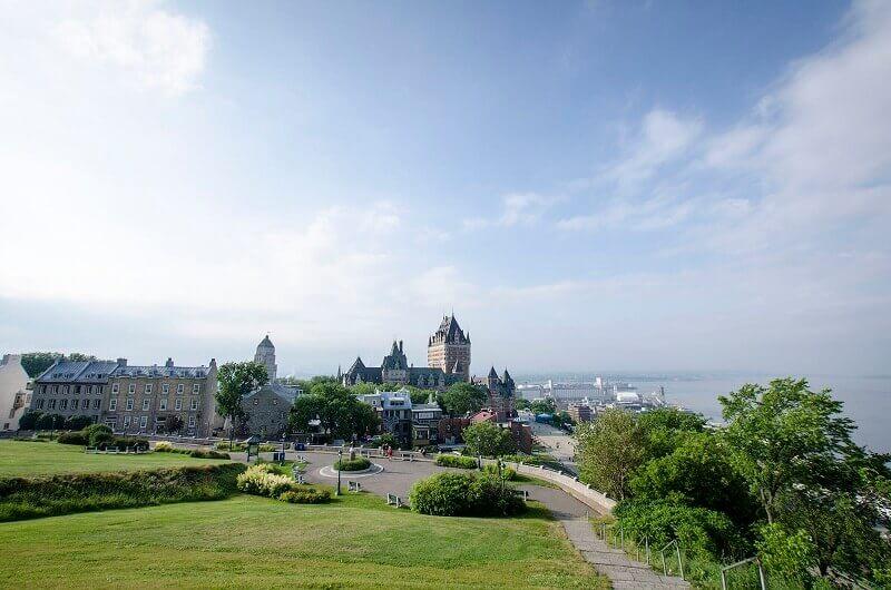 Vue sur la ville de Québec.