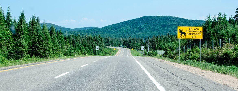 Route au Canada.