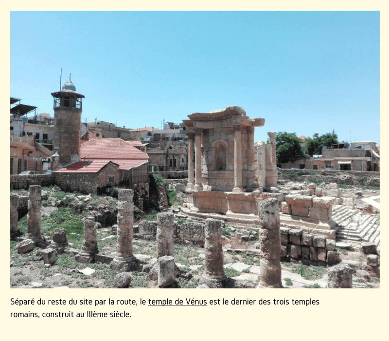 Vieux temple dans une ville du Liban.