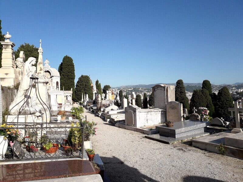 Cimetière historique à Nice.