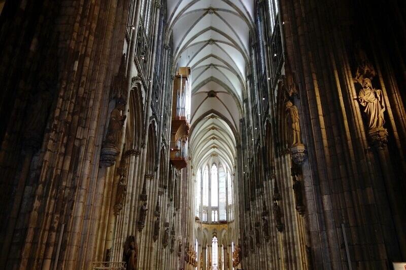 Intérieur de la cathédrale de Cologne.