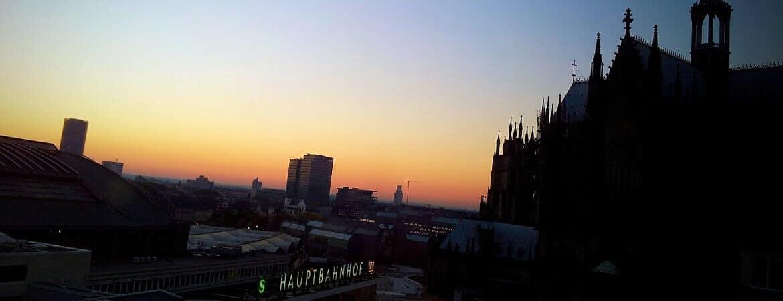 Vue sur la cathédrale de Cologne.