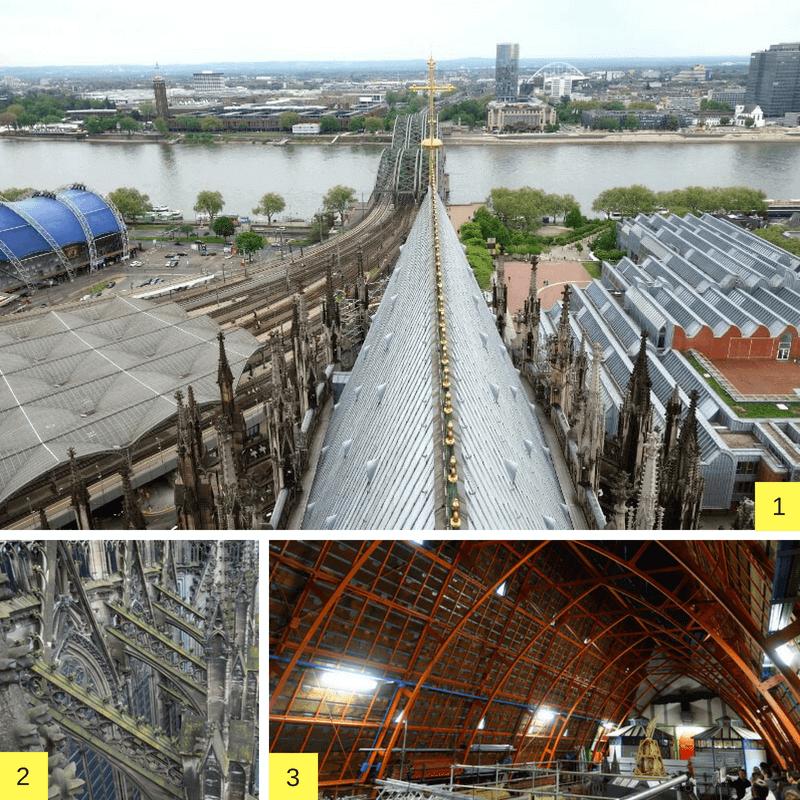 Vues de la cathédrale de Cologne.