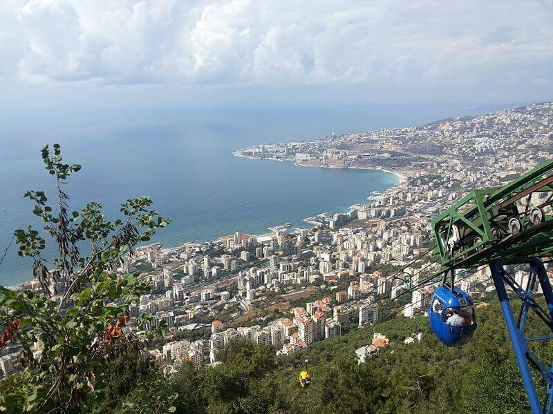 Panorama sur la ville de Jounieh.