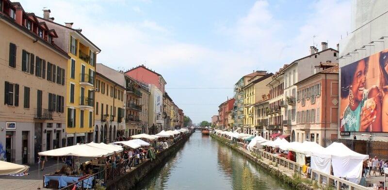 Canal à Milan.