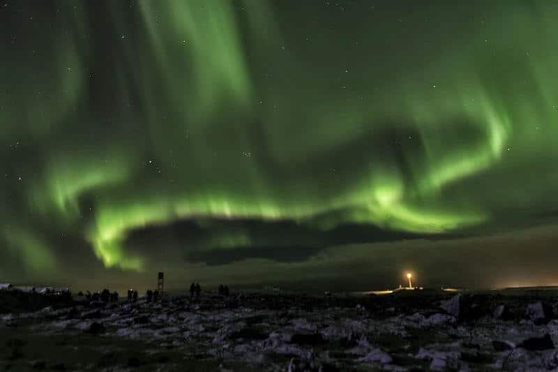 Une aurore boréale en Islande.