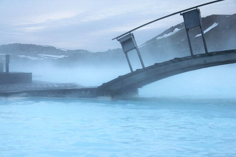 Un bain extérieur en Islande.