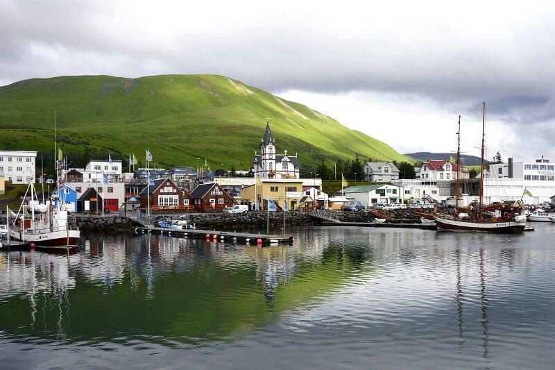 Un village en Islande.
