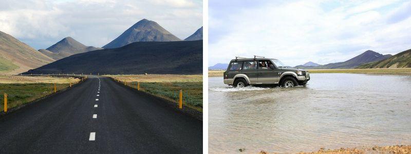 Routes en Islande.