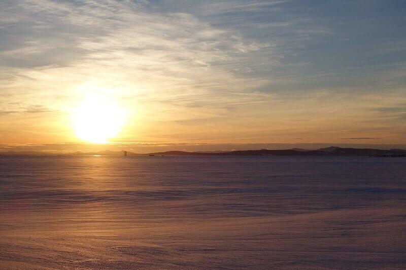 Coucher de soleil au Canada.