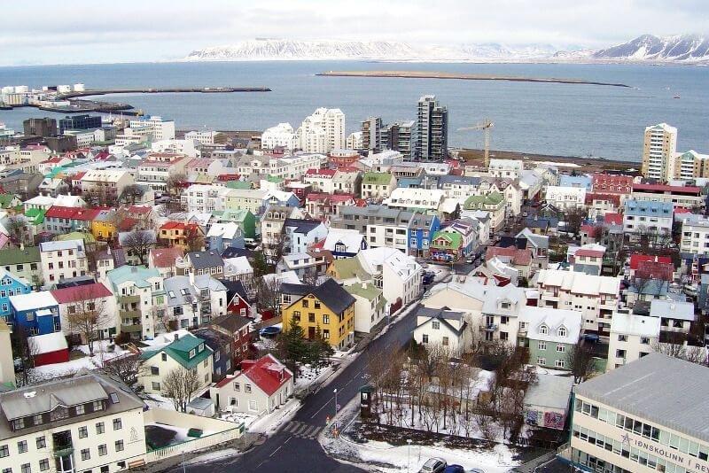 Vue sur Reykjavik.