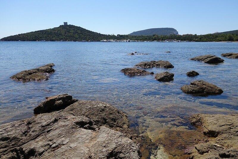 Vue de la côte de Sardaigne.