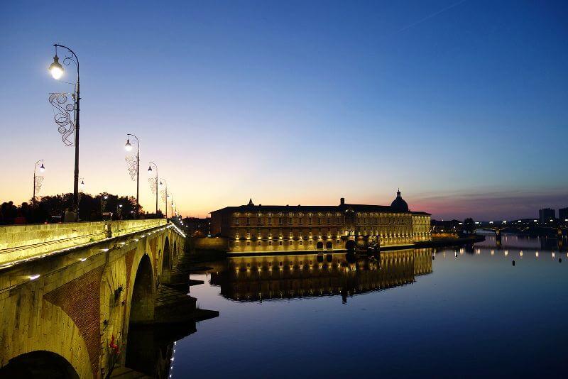 Coucher de soleil sur la Garonne.