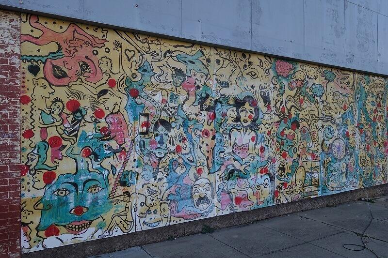 Mur peint en Louisiane.