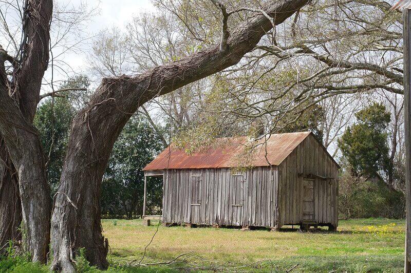 Cabane en Louisiane.