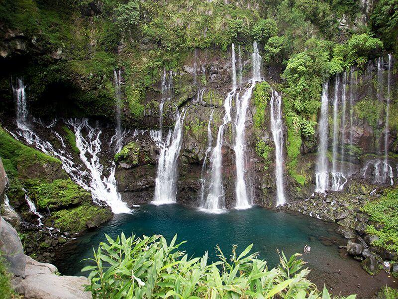 Cascade à La Réunion.