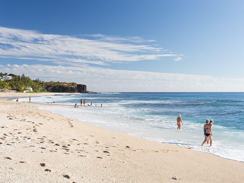 Une plage à La Réunion.