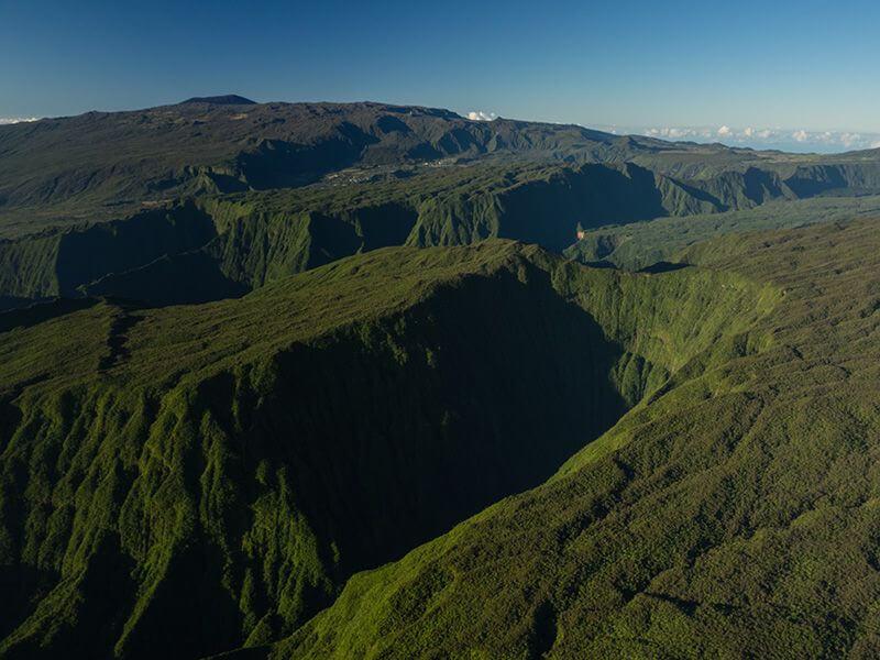 Vue aérienne de La Réunion.