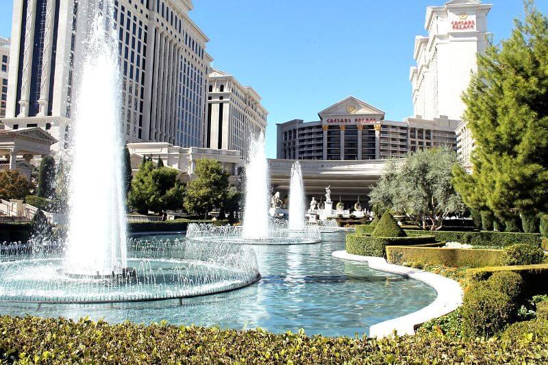 Fontaine d'un hôtel à Las Vegas.