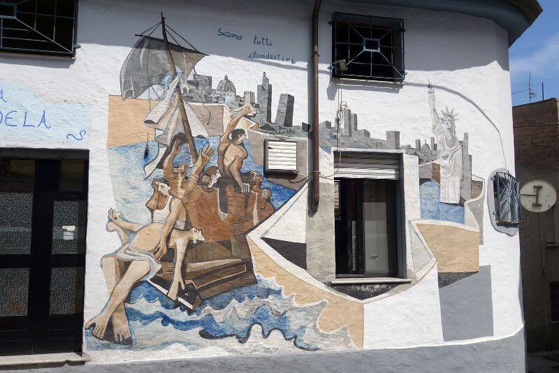 Street Art en Sardaigne.