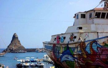 Bateau de pêche en Sicile.