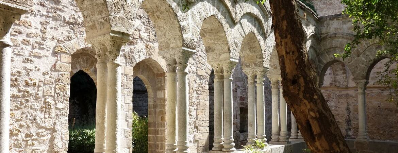 Cloître médiéval à Palerme.