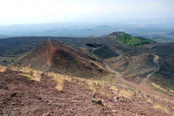 Cratère de l'Etna en Sicile.