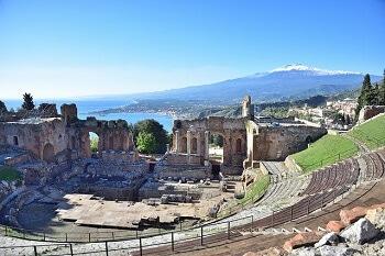 Théâtre grec en Sicile.