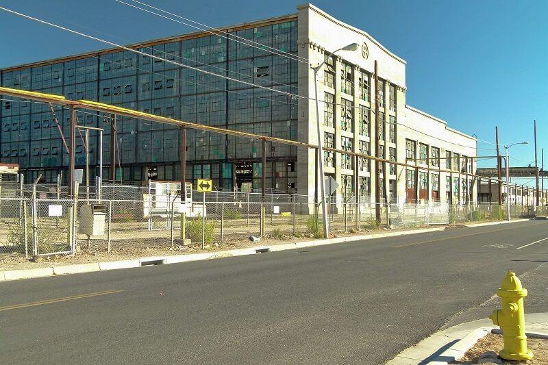 Une friche industrielle à Albuquerque aux USA.