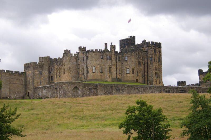 Un château-fort en Angleterre.