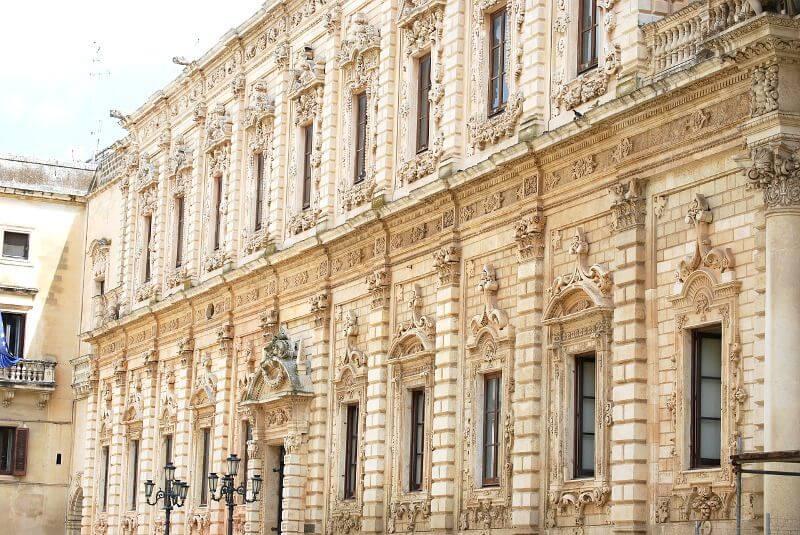 Un palais baroque en Italie.