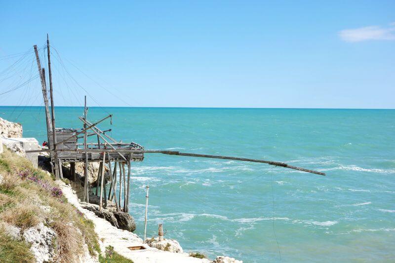Une cabane de pêche en Italie.