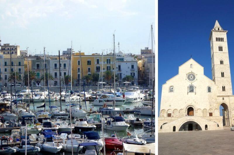Vues de la ville de Trani en Italie.