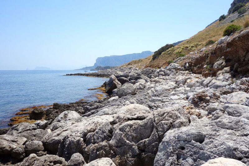 La côte sicilienne.