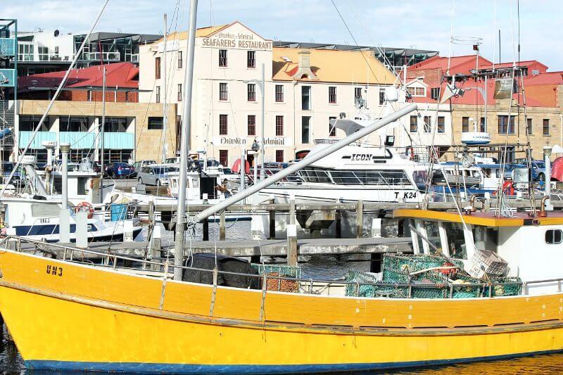 Bateaux au port de Hobart en Australie.