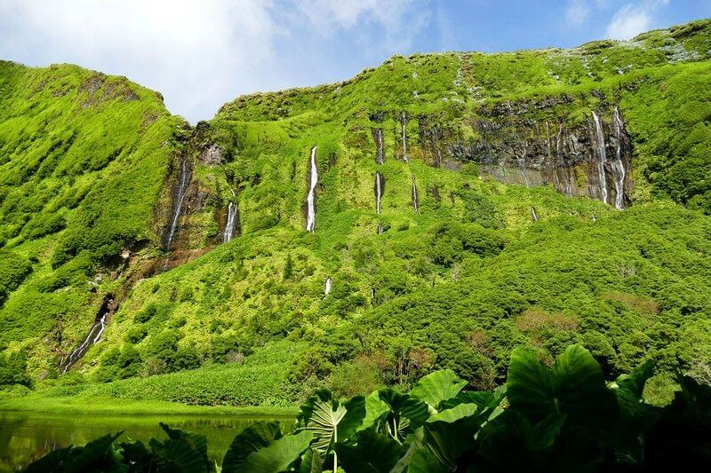 Une cascade aux Açores.
